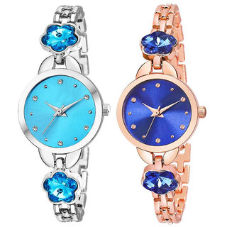 New Flower (Pack Of 2)  Best Designing Stylist Looking Analog Watch For Women,Girls
