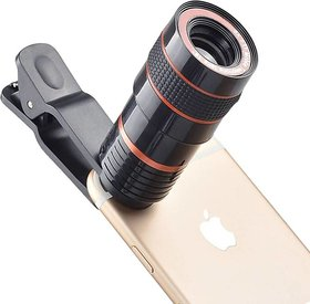 Stookin Mobile Camera 8X Zoom Wide Angle HD Telescope Lens with Blur Background and Universal Clip Holder
