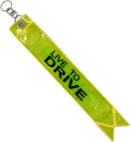 Radium Safety Warning Tag Key Chain Fluorescent Reflector in Night Glow Like LED Light Fashion Modification Hanging Tie