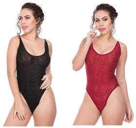 Rec Swaggy Women's Nighty Maroon Pack of 2