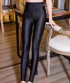 eDESIRE Shimmer Shining Leggings Casual Skinny Leggings Fashion Pants Pencil Legging for Girls Women, Black (Free Size)