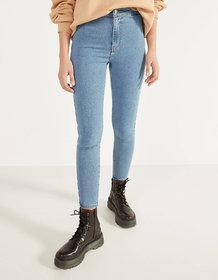 Malachi Women's Sky Blue Denim Lycra High Waist Skinny Fit Jeans With Stretch