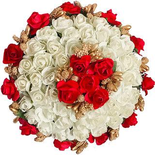 Arooman flower Full Juda Bun Hair Flower Gajra for Wedding and Parties