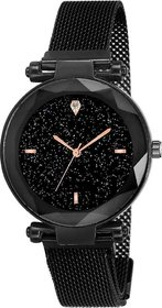 Laxurius Looking Black Dial Magnet Belt Girl And Women Watch Megnet Belt Analog Watch For Girls