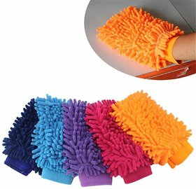 Microfiber Cleaning Gloves For Home and Car Washing by Traders5253 - Regular Size