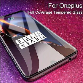 For Oneplus 6 Full Screen Curved Edge -Edge Protection 9H Tempered Glass Screenguard black
