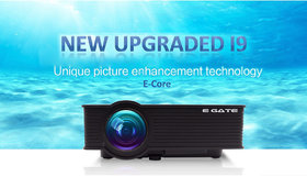 EGATE i9 LED HD Projector (Black) HD 1920 x 1080 - 120-inch Display