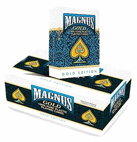 REGAL New High Quality Magnus Edition Waterproof Colorful Plastic Deck Poker Playing Card - Pack of 1