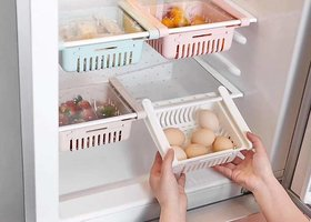 4 pcs Folding Fridge Drawers