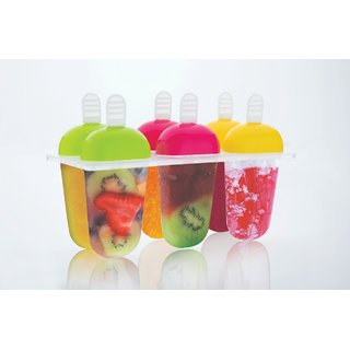Pack Of 6 Plastic Reusable air tight Popsicle Molds by Darkpyro