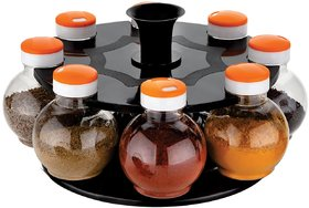Darkpyro Plastic Multicolor Spice Stand for Kitchen Storage Container Rack Sets (Pack of 8)