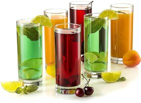 DARKPYRO Modern 6 pcs Glass Set Glass Set (Pack of 6) (Plastic, 200 ml, Multicolor)
