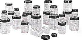 Pack Of 24 Darkpyro Plastic Checkers Container ( 650 ml, 300 ml, 200 ml)