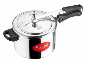 Fabiano Inner Lid Aluminum Pressure Cooker, 5 Liters, Silver