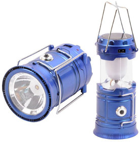 X-EON Emergency Light Solar , USB Mobile Charging Point,  Night Travel Camping Lantern- Blue- Colour May Vary