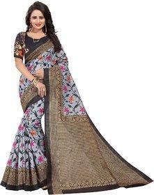 Sharda Creation Black Mysore Silk Printed With Blouse Saree