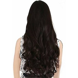 Iconic Hair Extensions And Wigs Women's Natural Curly/Wavy Hair Extension (Brown)