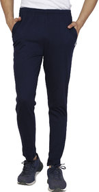 SHELLOCKS Cotton Hosiery Navy Blue Track Pants for Men with Back Pocket
