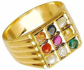 Navaratna navgrah 9 gemstone Adjustable Ring for Men