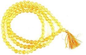 Yellow Topaz Mala - Round Beads -108+1
