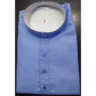 Men's Sky Blue Colour Linen Kurta