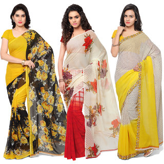 Anand Sarees MultiColor Georgette Printed work Pack Of 3 Sarees (1080_1152_2_1194_4)