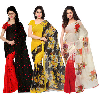 Anand Sarees MultiColor Georgette Printed work Pack Of 3 Sarees (1080_1152_2_1262_3)