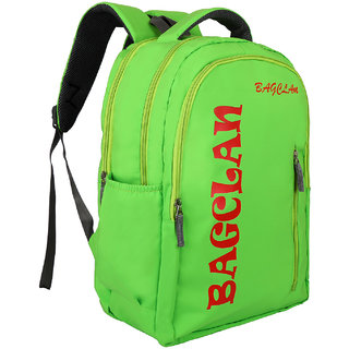 Bagclan Neon Green Trendy Multi Compartment College Bag/School Bag/Backpack