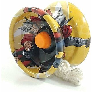 Fine Quality High Gloss high Speed Metal Avengers Printed YOYO Toys for Kids - Multicolor (Pack Of 1)