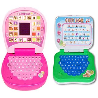 New Pinch Educational learning  Kids small screen led light Laptop with mini laptop