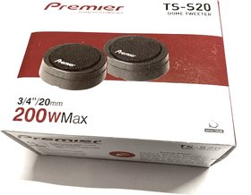 Premier TS-S20 20mm High Power Component Dome Tweeter - 1 year warranty