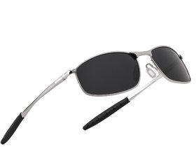 ROYAL SON HD Polarized Sport Mens Unisex Sunglasses - Black