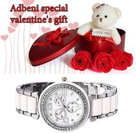Adbeni Special Valentine Day Gift With Glow Watch-GC1112