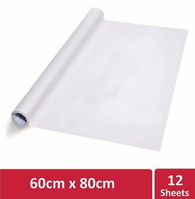 Kowa Writing Sheet, Portable White Board for Office, Meetings,  White Sheet (One Roll contains 12 Reusable Sheets)