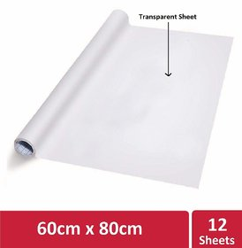 Kowa Writing Sheet,Portable Transparent Board for Office, Meetings,Transparent Sheet(One Roll contains12 Reusable Sheet)