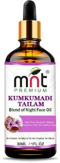 MNT Kumkumadi Tailam With Pure Kashmiri Saffron (30ml) For Brightens, Healthy  Glowing Skin