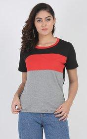 Leotude Women Half Sleeve Casual T-shirt