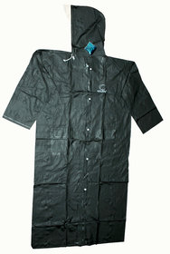 Ladies Plain Raincoat (XL Size, 50 Inches, Button and Chain)