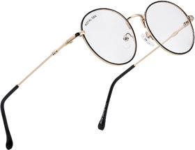 ROYAL SON Full Rim Metal Round Anti-Reflection Eyeglasses Frame - Gold