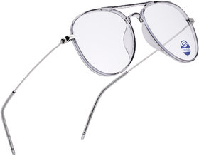 ROYAL SON Blue Cut Light Ray Block Glasses Anti-Glare Lens Mens Spectacle Frame - Grey