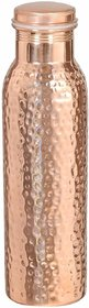 Copper Handicraft Pure Copper Hammered Water Bottle,Joint Free-Ayurveda Health Benefits