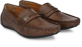Eolite Coffee Smart Loafers for Men
