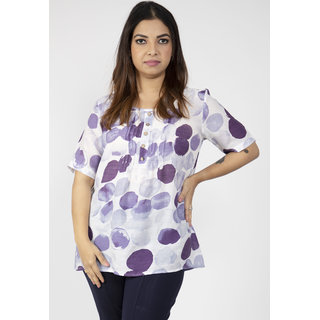 Casual Polka Dot Short Sleeve Shirt For Women