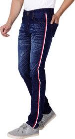 Ragzo Men's Stretchable Slim Fit Navy Jeans