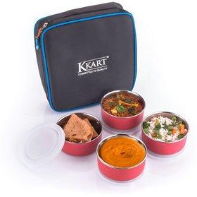 Kkart Black Stainless Steel Lunch Box