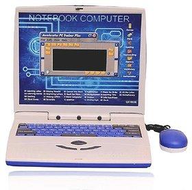 OH BABY Super-Slim Educational Talking Kids Laptop (Blue) FOR YOUR KIDS SE-ET-601