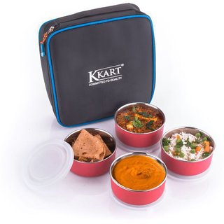 Kkart Black Stainless Steel Lunch Box