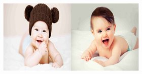 Cute Baby Combo Poster Set of 2 Poster - Poster for Pregnant Women - New Born Baby Poster - baby poster - cute baby poster