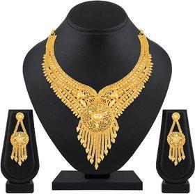 Asmitta Designer One Gram High Gold Plated Choker Necklace Set For Women
