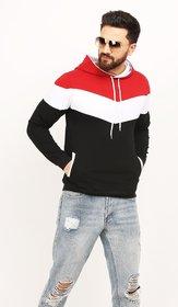 Leotude Men's Multicolor Hooded Sweatshirt